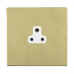 Hamilton Sheer CFX Polished Brass 1 Gang 2A Unswitched Socket with White Insert