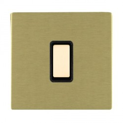 Hamilton Sheer CFX Satin Brass 1 Gang Multi way Touch Master Trailing Edge with Black Insert
