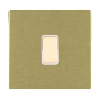 Hamilton Sheer CFX Satin Brass 1 Gang Multi way Touch Master Trailing Edge with White Insert