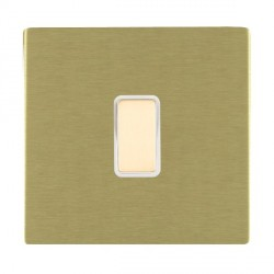 Hamilton Sheer CFX Satin Brass 1 Gang Multi way Touch Slave Trailing Edge with White Insert
