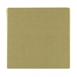 Hamilton Sheer CFX Satin Brass Single Blank Plate