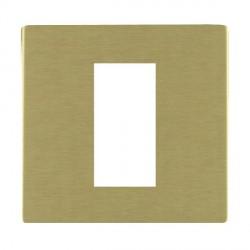 Hamilton Sheer CFX EuroFix Plates Satin Brass Single Plate c/w 1 EuroFix Apertures + Grid