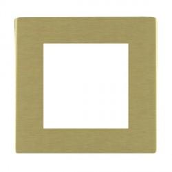 Hamilton Sheer CFX EuroFix Plates Satin Brass Single Plate c/w 2 EuroFix Apertures + Grid
