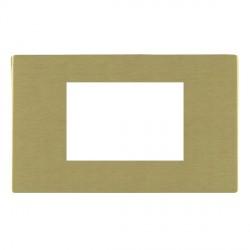 Hamilton Sheer CFX EuroFix Plates Satin Brass Double Plate c/w 3 EuroFix Apertures + Grid