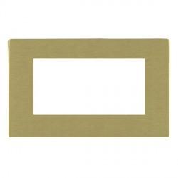 Hamilton Sheer CFX EuroFix Plates Satin Brass Double Plate c/w 4 EuroFix Apertures + Grid