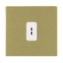 Hamilton Sheer CFX Satin Brass 1 Gang 2 Way Key Switch with White Insert
