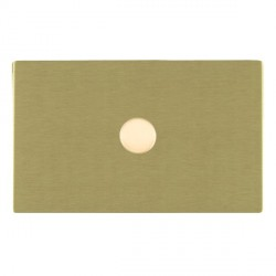 Hamilton Sheer CFX Satin Brass Push On/Off 1000W Dimmer 1 Gang 2 way with Satin Brass Insert