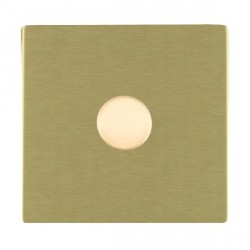 Hamilton Sheer CFX Satin Brass Push On/Off Dimmer 1 Gang Multi-way 250W/VA Trailing Edge with Satin Brass Insert