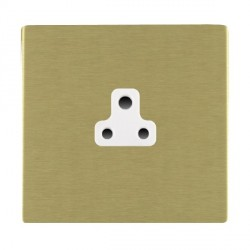 Hamilton Sheer CFX Satin Brass 1 Gang 2A Unswitched Socket with White Insert