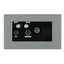 Hamilton Sheer CFX Satin Steel TV+FM+SAT+SAT (DAB Compatible)+TV+TCS (DAB Compatible) with Black Insert