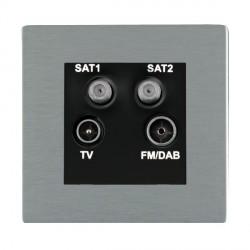 Hamilton Sheer CFX Satin Steel TV+FM+SAT+SAT (DAB Compatible) with Black Insert