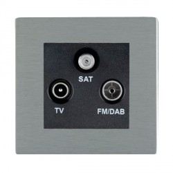 Hamilton Sheer CFX Satin Steel TV+FM+SAT (DAB Compatible) with Black Insert