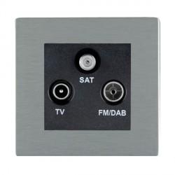 Hamilton Sheer CFX Satin Steel TV+FM+SAT (DAB Compatible) with Black Insert
