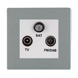 Hamilton Sheer CFX Satin Steel TV+FM+SAT (DAB Compatible) with White Insert