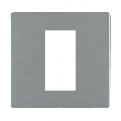Hamilton Sheer CFX EuroFix Plates Satin Steel Single Plate c/w 1 EuroFix Apertures + Grid