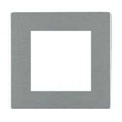Hamilton Sheer CFX EuroFix Plates Satin Steel Single Plate c/w 2 EuroFix Apertures + Grid
