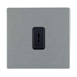 Hamilton Sheer CFX Satin Steel 1 Gang 2 Way Key Switch with Black Insert