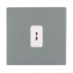 Hamilton Sheer CFX Satin Steel 1 Gang 2 Way Key Switch with White Insert