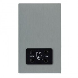 Hamilton Sheer CFX Satin Steel Shaver Socket Dual Voltage with Black Insert