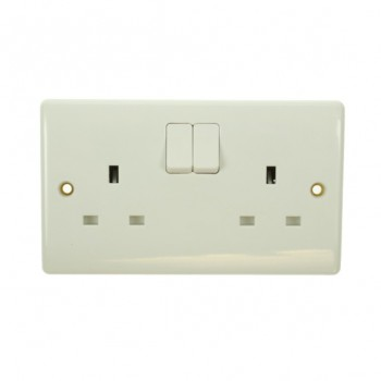 BG Nexus 13 Amp White PVC Double Switched Socket