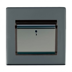 Hamilton Sheer CFX Black Nickel 1 Gang On/Off 10A Card Switch with Blue LED Locator with Black Insert
