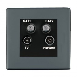 Hamilton Sheer CFX Black Nickel TV+FM+SAT+SAT (DAB Compatible) with Black Insert