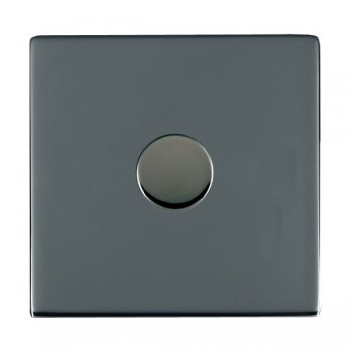 Hamilton Sheer CFX Black Nickel Push On/Off 200VA Dimmer 1 Gang 2 way Inductive with Black Nickel Insert