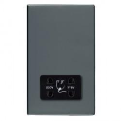 Hamilton Sheer CFX Black Nickel Shaver Socket Dual Voltage with Black Insert