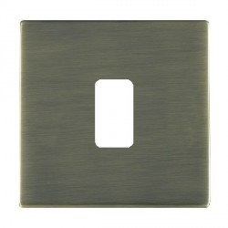 Hamilton Sheer CFX Grid Antique Brass 1 Gang Concealed Fix Grid Fix Aperture Plate with Grid