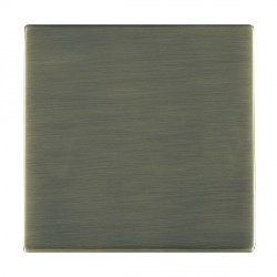 Hamilton Sheer CFX Antique Brass Single Blank Plate