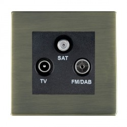 Hamilton Sheer CFX Antique Brass TV+FM+SAT (DAB Compatible) with Black Insert