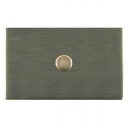 Hamilton Sheer CFX Antique Brass Push On/Off 1000W Dimmer 1 Gang 2 way with Antique Brass Insert