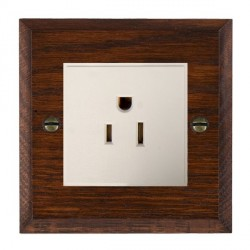 Hamilton Woods Chamfered Antique Mahogany 1 Gang 15A 127V American Unswitched Socket with White Insert