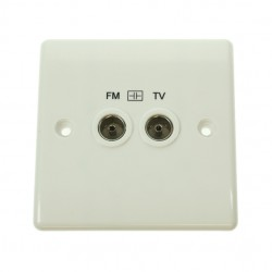 BG Nexus White PVC Diplex