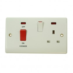 BG Nexus 45 Amp Cooker Control Unit with 13 Amp Socket and Neons