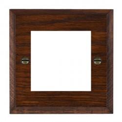 Hamilton Woods Chamfered Antique Mahogany Single Plate with 50x50mm EuroFix Aperture