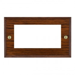 Hamilton Woods Chamfered Antique Mahogany Double Plate with 50x50mm EuroFix Aperture