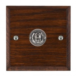 Hamilton Woods Chamfered Antique Mahogany 1 Gang 2 Way Toggle with Bright Chrome Insert