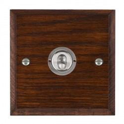 Hamilton Woods Chamfered Antique Mahogany 1 Gang Intermediate Toggle with Satin Chrome Insert