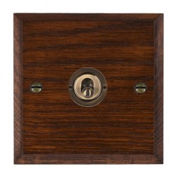 Hamilton Woods Chamfered Antique Mahogany 1 Gang Intermediate Toggle with Antique Brass Insert