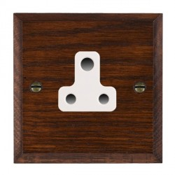 Hamilton Woods Chamfered Antique Mahogany 1 Gang 5A Unswitched Socket with White Insert