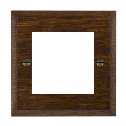 Hamilton Woods Chamfered Dark Oak Single Plate with 50x50mm EuroFix Aperture
