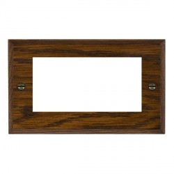Hamilton Woods Chamfered Dark Oak Double Plate with 50x50mm EuroFix Aperture
