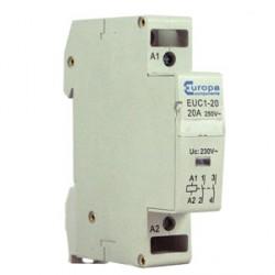 Europa EUC1-20-20P 20amp N/O 230V Double Pole Din Rail Mounting Modular Contactor