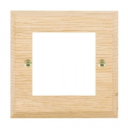 Hamilton Woods Chamfered Light Oak Single Plate with 50x50mm EuroFix Aperture