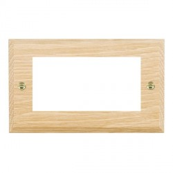 Hamilton Woods Chamfered Light Oak Double Plate with 50x50mm EuroFix Aperture