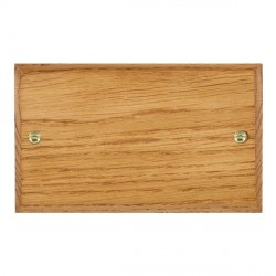 Hamilton Woods Chamfered Medium Oak Double Plate