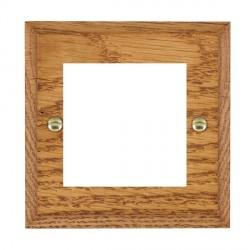 Hamilton Woods Chamfered Medium Oak Single Plate with 50x50mm EuroFix Aperture