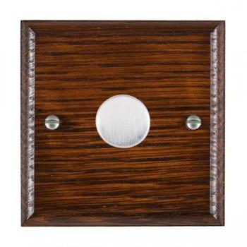Hamilton Woods Ovolo Antique Mahogany 1 Gang Multi-way 250W/VA Dimmer with Satin Chrome Insert