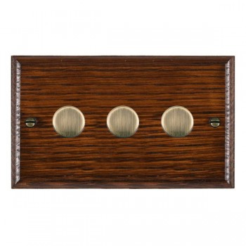 Hamilton Woods Ovolo Antique Mahogany 400W Dimmer with Antique Brass Insert